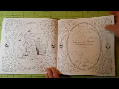 The edgar allan poe by odessa begay adult coloring book review flip through