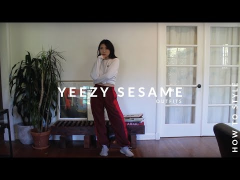 14c3fb123a08c HOW TO STYLE | Yeezy 350 V2 Boost Sesame Streetwear Lookbook ...