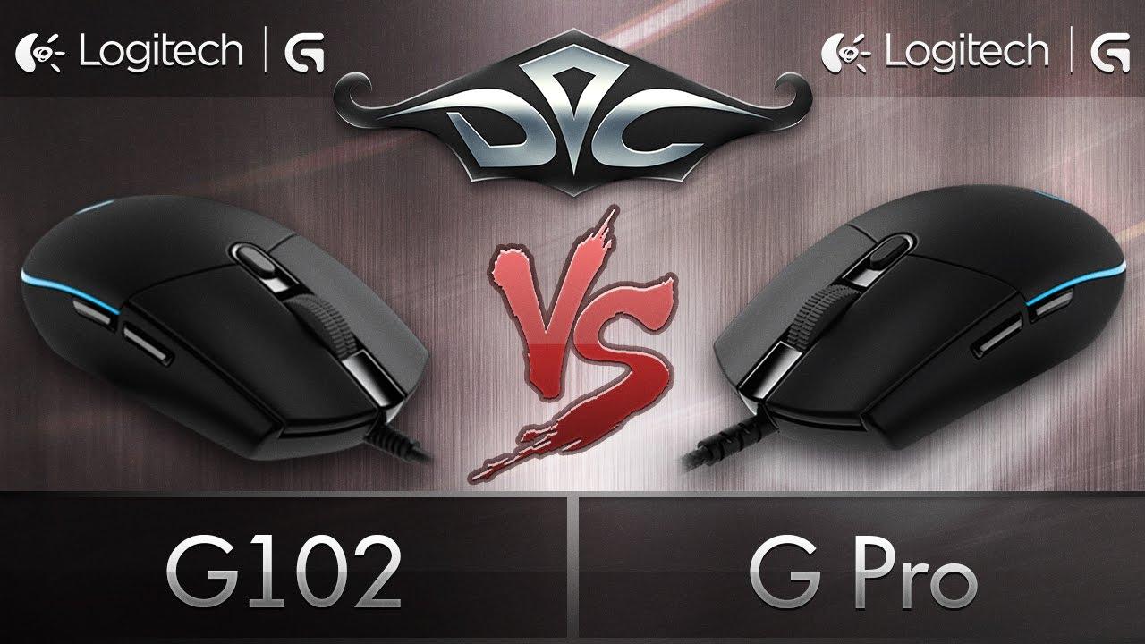 Logitech G Pro vs. Logitech G102. Обзор-сравнение.
