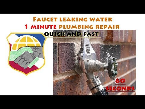DIY 1 minute quick and fast plumbing repair – Faucet leaking water
