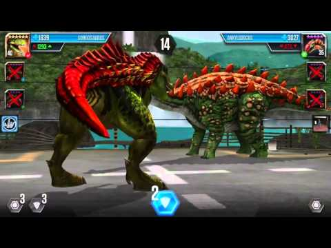 GORGOSAURUS MAX LEVEL BATTLE Jurassic World The Game
