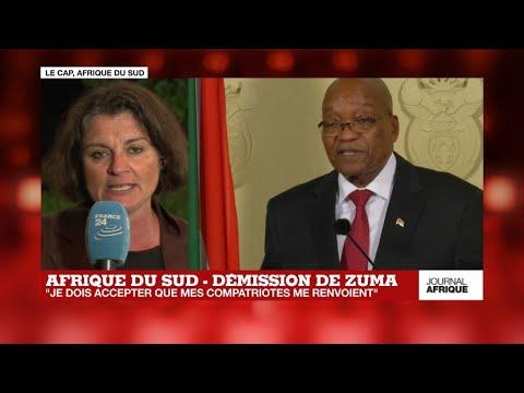 """Jacob Zuma démissionne: """"Je dois accepter que mes compatriotes me renvoient"""""""