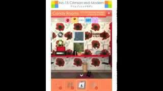 (funkyland) Candy Rooms Escape 15: Crimson Red Modern Walkthrough