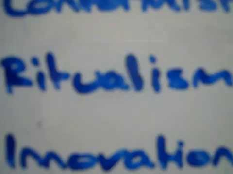 Sociology - A2 Crime and Deviance - Structural Functionalism (Strain Theory)