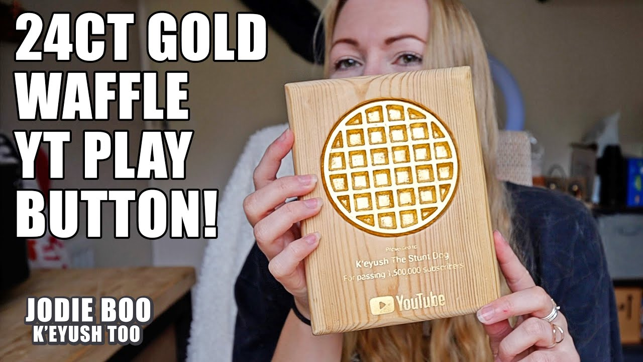I Made My Husky A Waffle PlayButton With Real Gold!