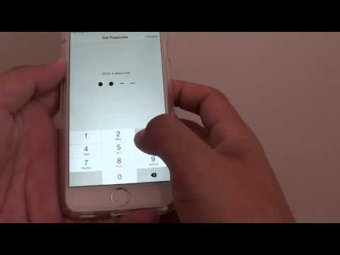 How to change lock screen code on iphone 6