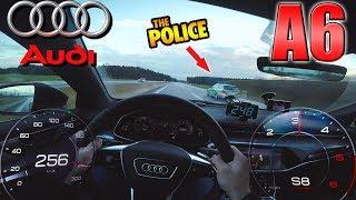 Audi A6 50 TDI pushing on German Autobahn ✔