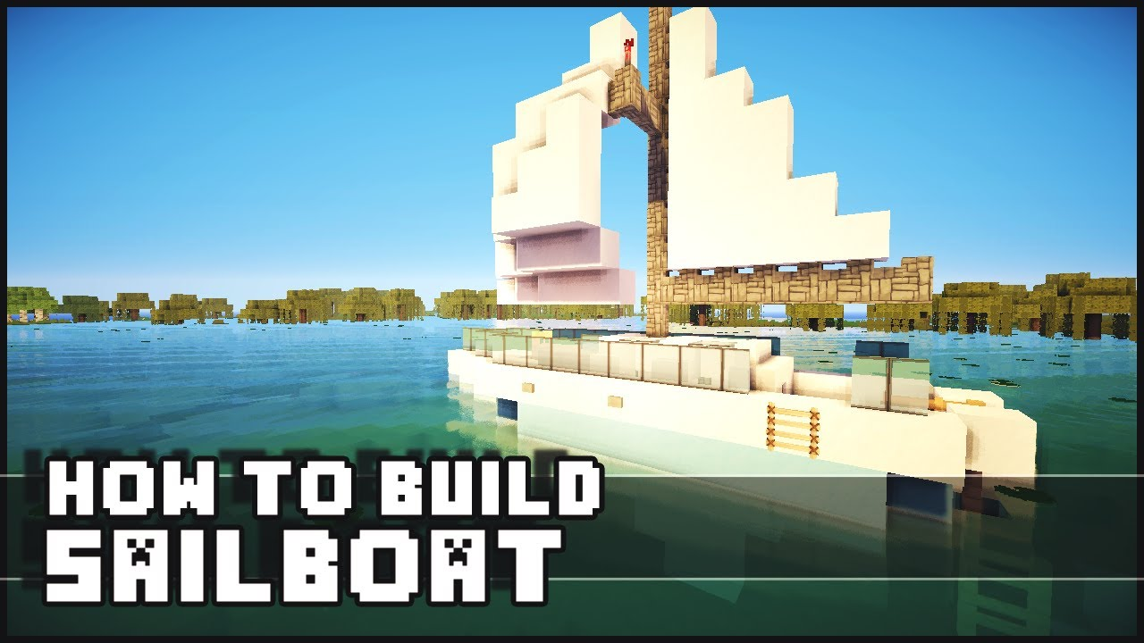 Minecraft How to Make Sailboat YouTube