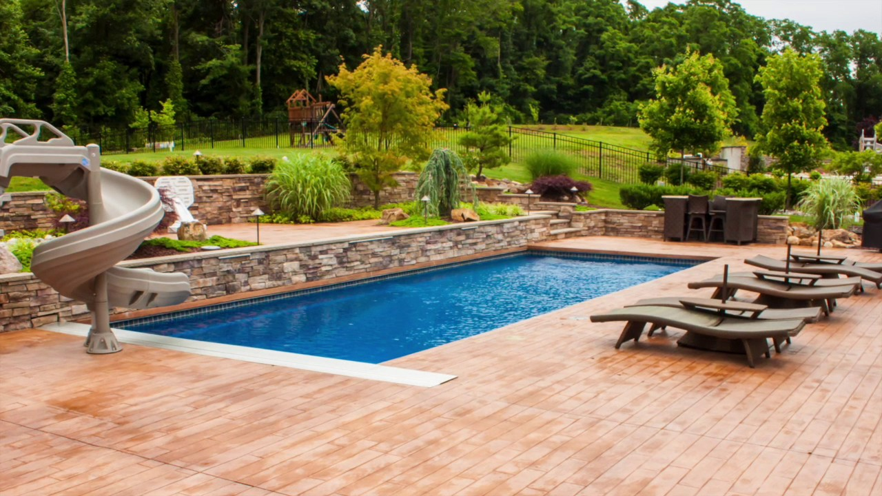Charmant Stamped Concrete Pool Patios, Pool Coping.