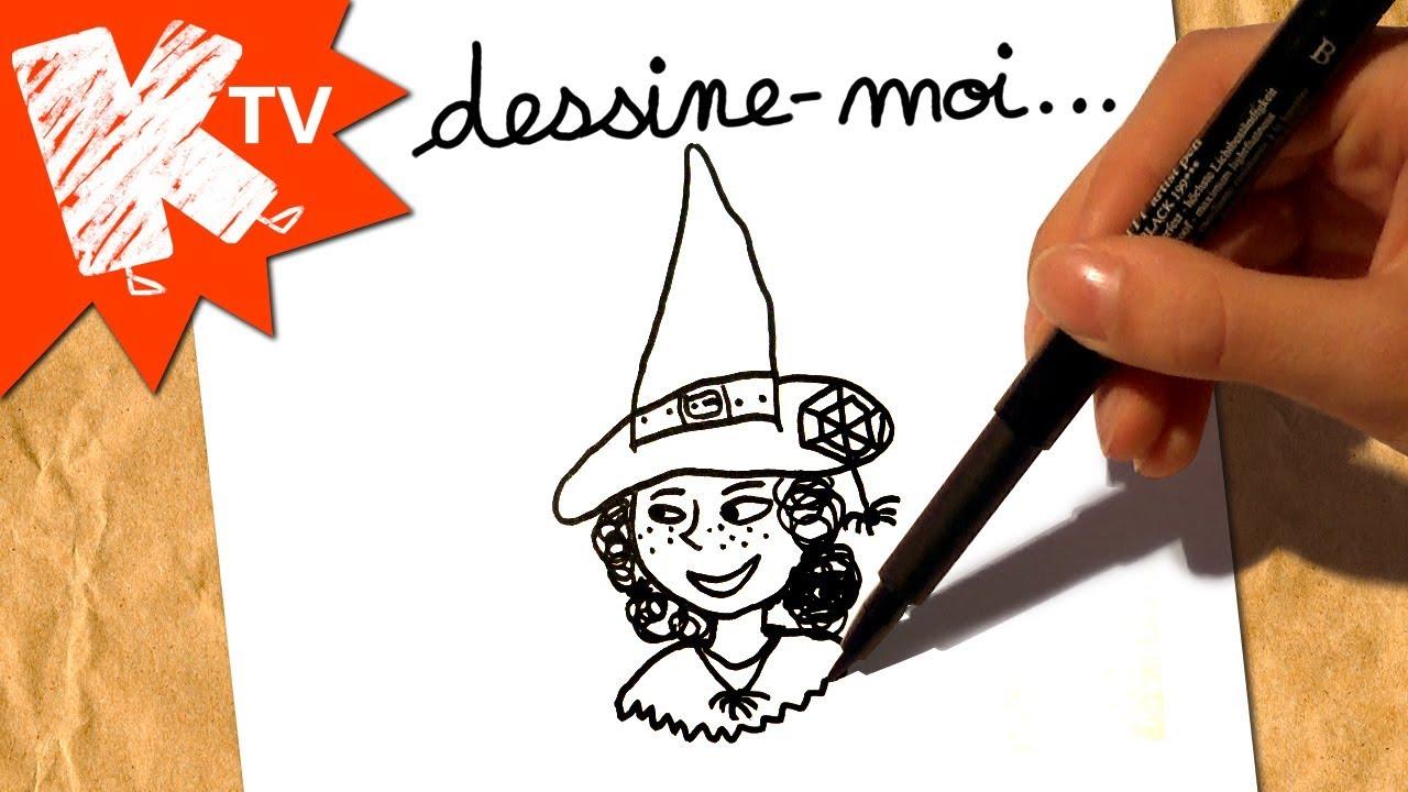 Dessine Moi Une Sorciere Dessin Halloween