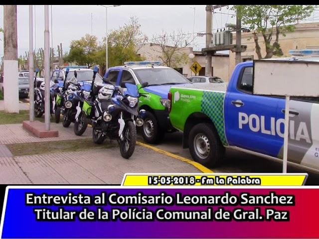 Entrevista al Comisario Leonardo Sanchez