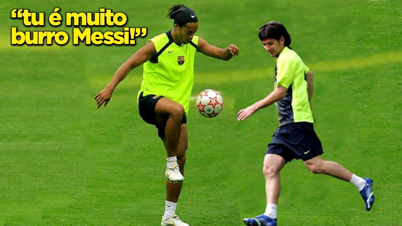 RONALDINHO NO TREINO ERA ENJOADO!!! QUANDO RONALDINHO FAZIA BRUXARIA NOS TREINOS!!!