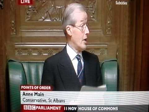 House of Commons, Sir Alan Haselhurst point of order 2010