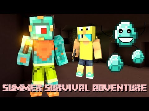 WE NEED DIAMONDS! | Minecraft Summer Survival Episode 2! | MicroGuardian