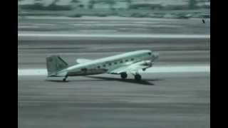 F-0688 Video of Ryan ST, Douglas DC-3, Consolidated B-24 and T-6 Texan at Lindbergh Field