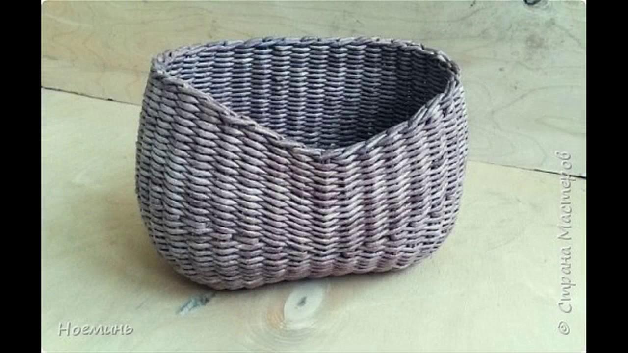 Weaving baskets from plastic bottles: master class 76