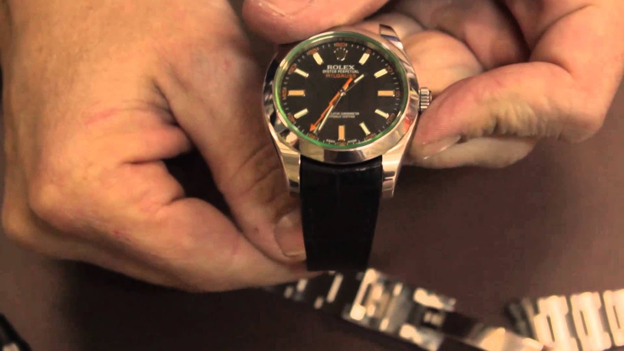 R Concept Strap Installation On Rolex Milgauss Youtube