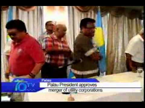 Palau President Approves Merger Of Utility Corporations