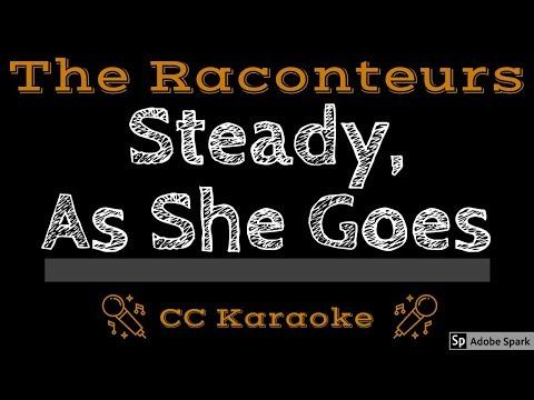 The Raconteurs • Steady, As She Goes (CC) [Karaoke Instrumental Lyrics]