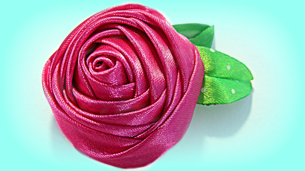 C mo hacer una rosa con cinta how to make a ribbon rose - Como secar una rosa ...