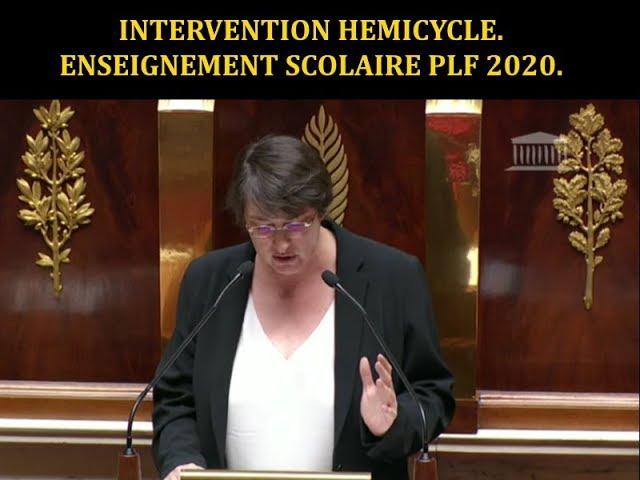 Intervention hémicycle enseignement scolaire PLF 2020