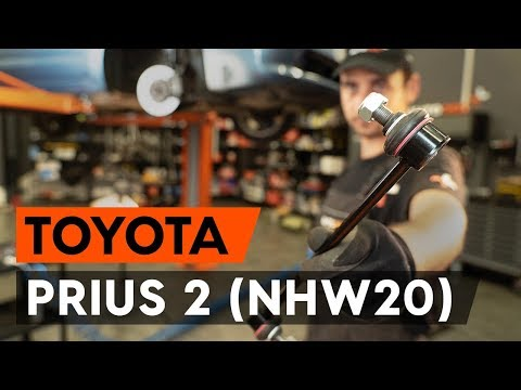 Как заменить тягу стабилизатора передней подвески на TOYOTA PRIUS 2 (NHW20) [ВИДЕОУРОК AUTODOC]