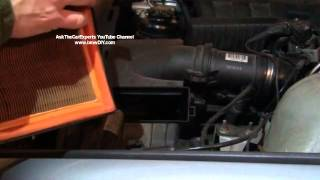 bmw engine air filter replacement e39 5 series inline 6 cylinder diy