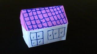 Cara Membuat Origami Rumah 3 Dimensi   Origami Rumah   Origami Bangunan