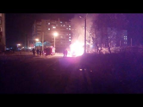Взорвалось ГБО. Момент взрыва автомобиля попал на видео