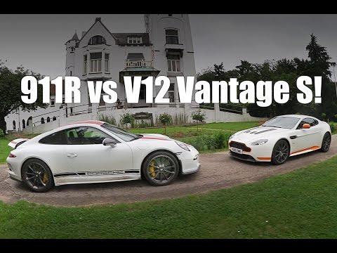 PORSCHE 911R vs ASTON MARTIN V12 VANTAGE  S! VLOG #61