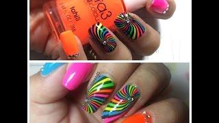 Neon Geometric Nail Art | UberChic 6-01 | Twin Mani with Yvonne Lopez