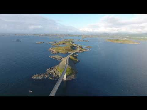 DJI Phantom 4 Drohnenvideo - Die Atlantikstraße / Atlanterhavsvegen / Atlantic Ocean Road [4K]