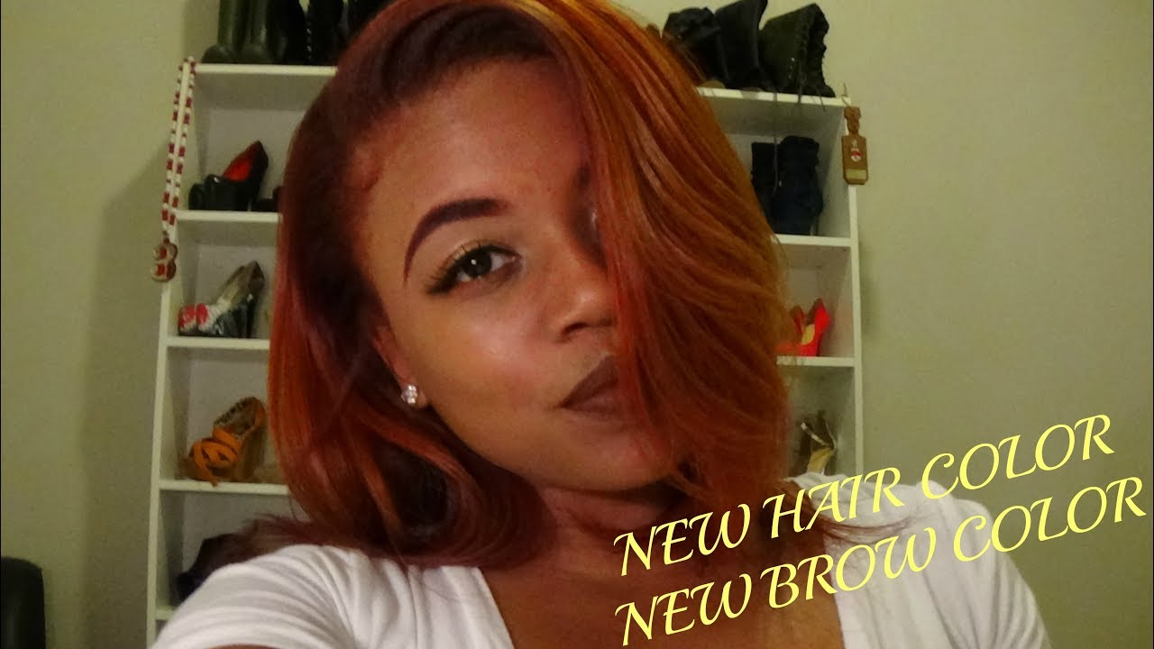 How To Color Brows To Match New Hair Color Without Using Dye Youtube