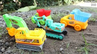 Toys construction for children I Truck trailers, dum truck, excavator & Lagu buat anak   anak