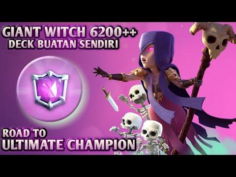 6200++ Gameplay! Pake deck racikan sendiri! Giant Witch tak selembek burjo - Clash Royale Indonesia