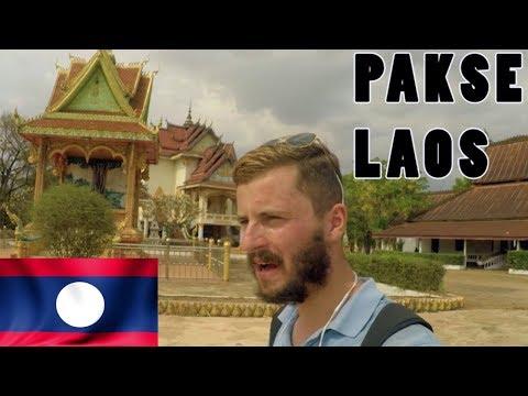 EXPLORING PAKSE, LAOS (Sleepy Laotian Town) 🇱🇦