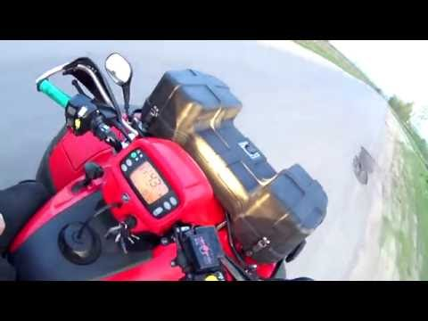 Квадроцикл Honda TRX 500 FA (съемка видео Sony HDR-AS200V)
