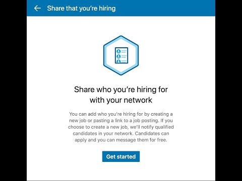Posting a Free Job Listing on LinkedIn for your Company
