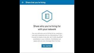 Posting a Free Job Listing on LinkedIn for your Company