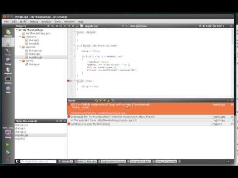 C++ Qt 122 - QtConcurrent Run a thread with signals and slots