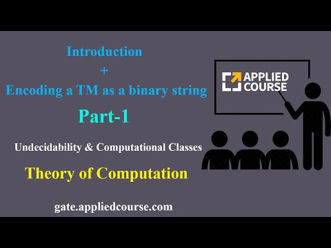 Introduction + Encoding A TM As A Binary String | Undecidability & Computational Classes | Part-1