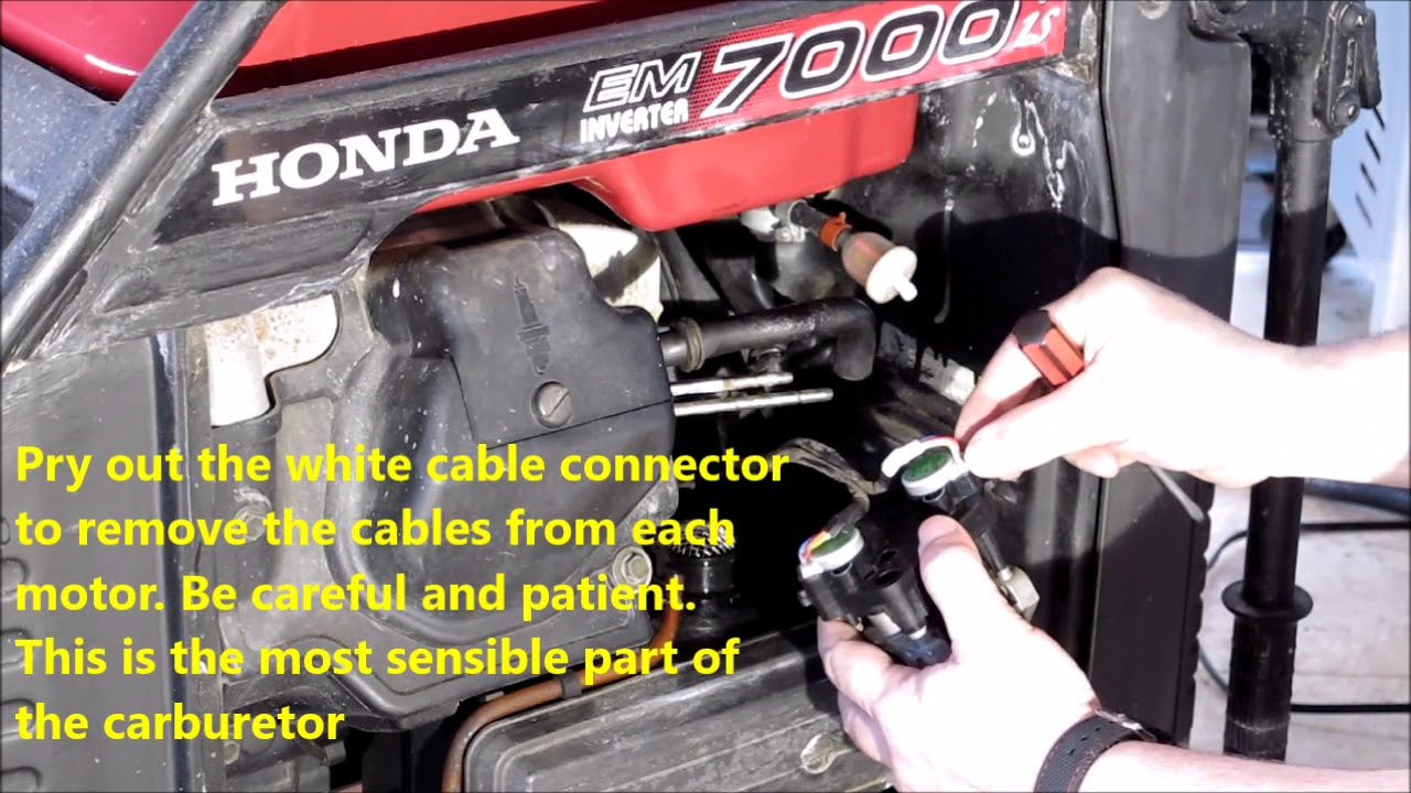 Honda EM7000is Generator Carburetor Replacement Guide  YouTube