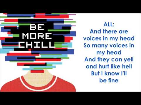 Voices In My Head - BE MORE CHILL (LYRICS)