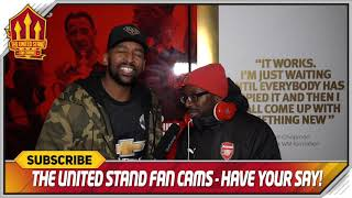 TY - WE LET YOU WIN! Arsenal 1-3 Manchester United FanCam