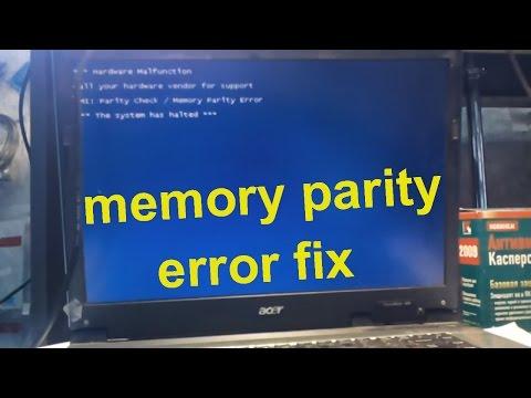 parity check / memory parity error - fix it video part 1