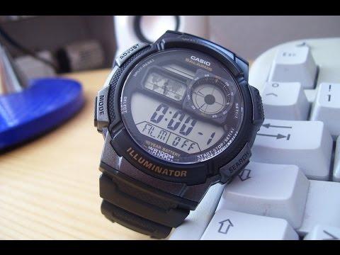 ee42242fb ساعة Casio رياضية - AE1000W-1BVCF - YouTube