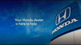 homepage tile video photo for Honda is Open for Service
