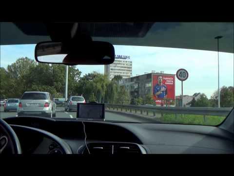 Driving from Bauhaus, Jankomir to Importanne Galleria, Zagreb
