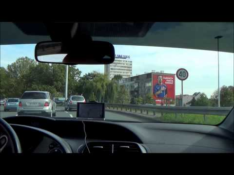 Driving from Bauhaus, Jankomir to Importanne Centar, Zagreb