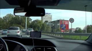 Driving from Bauhaus, Jankomir to Importanne Centar, Zagreb